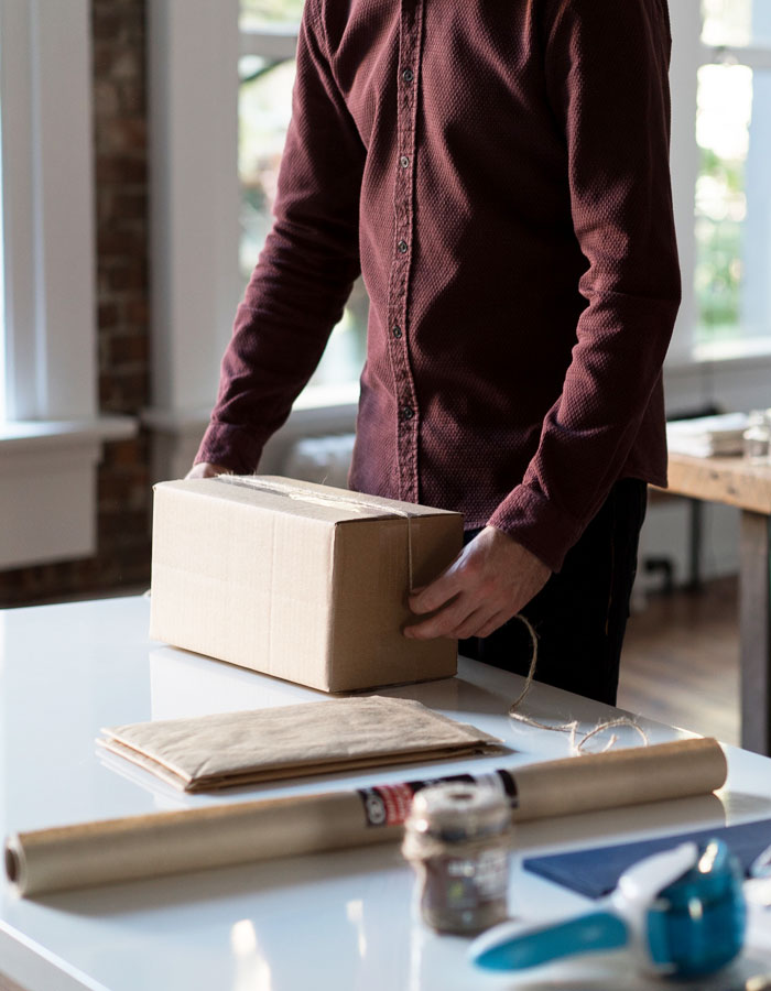 Packing a Box Small Business Retailer